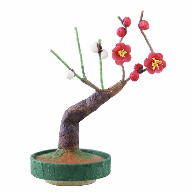ミニ盆栽紅白梅