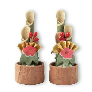 小さなお正月飾りめでたや遊び 門松 扇 【楽ギフ_包装選択】【楽ギフ_のし宛書】