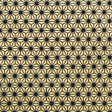 色鳥の子紙 シルク印刷麻の葉 黒×金(330-イ)