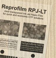 インクジェットプリンター用製版用フィルムリプロジェットPLT(染料・顔料インク対応)A4/100枚入