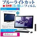 送料無料(メール便/DM便) SONY VAIO Lシリーズ[24インチワイド]ブルーライトカット 反射防止 液晶保護フィルム 指紋防止 気泡レス加工 液晶フィルム