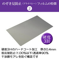 【お買い得】ASUSMeMOPad7ME572CL-HP16LTE[7インチ(1920x1200)]で使える【のぞき見防止(上下左右4方向)プライバシー保護フィルム(反射防止機能付)】目を保護、キズ防止、防塵、セキュリティー液晶保護フィルム(クリーニングクロスとヘラ付)