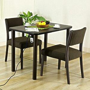 布団いらずのこたつテーブル3点セットです布団レスこたつ ステルス幅90cm(チェア2脚組みセット)