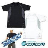 クールコアTシャツ 3枚組+クールコアタオルのおまけ付き【はぴねすくらぶラジオショッピング】coolcore