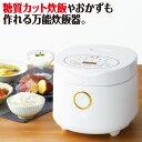 調理&糖質カット炊飯器「健庄」(ご飯 お米 炊飯ジャー 4合炊き・2合炊き)