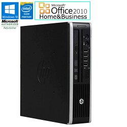 MicrosoftOfficeHome&Business2010セット【中古】デスクトップパソコンHPCompaqElite8300USWindows10ProPentiumG20303.00GHzメモリ4GBHDD320GBDVD-ROMドライブDisplayPort×2USB3.0×4初期設定済送料無料(一部地域を除く)