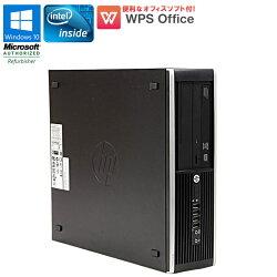WPSOffice付【中古】パソコンデスクトップパソコンHPCompaq6200SFFWindows10ProCeleronG5302.40GHzメモリ4GBHDD250GBDVDマルチドライブUSB3.0初期設定済