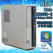 NECMateMK25EB-EWindows7CeleronG5402.50GHzメモリ4GBHDD250GB