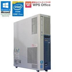 【中古】NECMateMK36HE-KWindows10中古パソコン中古パソコンデスクトップパソコンWPSOffice付Corei7vPro47903.60GHzメモリ8GBHDD1TBDVDマルチドライブUSB3.0初期設定済