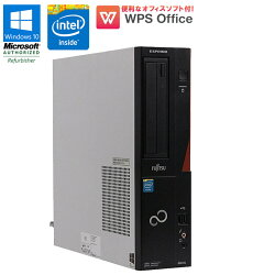 WPSOffice付【中古】デスクトップパソコン富士通(FUJITSU)ESPRIMOD551/GWindows10HomeCeleronG16102.6GHzメモリ4GBHDD250GBDVD-ROMドライブ初期設定済送料無料(一部地域を除く)
