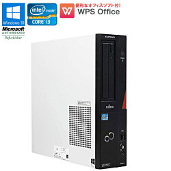 WPSOffice付【中古】デスクトップパソコン富士通(FUJITSU)ESPRIMOD582/GWindows10HomeCorei332403.40GHzメモリ4GBHDD250GBDVDマルチドライブUSB3.0初期設定済送料無料(一部地域を除く)