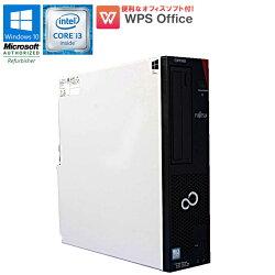 ★数量限定★WPSOffice付【中古】デスクトップパソコン富士通(FUJITSU)ESPRIMOD586/PXWindows10ProCorei361003.70GHzメモリ4GBHDD500GBDVDマルチドライブUSB3.0初期設定済送料無料(一部地域を除く)