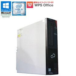 WPSOffice付【中古】デスクトップパソコン富士通(FUJITSU)ESPRIMOD956/MWindows10Corei5vPro65003.20GHzメモリ4GBHDD500GBDVDマルチドライブUSB3.0初期設定済90日保証在宅勤務テレワークに最適中古PC