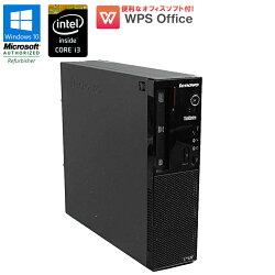 WPSOffice付【中古】デスクトップパソコンlenovoThinkCentreE73Windows10ProCorei341303.40GHzメモリ4GBHDD500GBDVDマルチドライブUSB3.0初期設定済送料無料(一部地域を除く)