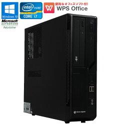 WPSOffice付【中古】デスクトップパソコンmousecomputerBTOMPro-is470XWindows10ProCorei747903.60GHzメモリ16GBSSD180GB+HDD1TBDVDマルチドライブ初期設定済送料無料(一部地域を除く)
