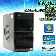 �����1�桪�����šۥǥ����ȥåץѥ�����DOSPARAPrime�ѥ�����Windows7CPU��2����Core73.40GHz����8GBHDD500GBRadeonHD5770��KingsoftOffice2010���󥹥ȡ���Ѥߡ�������̵��(�����ϰ���)��