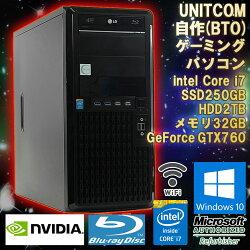 限定1台!中古自作(BTO)ゲーミングパソコンUNITCOM(ユニットコム)Windows10Corei747903.60GHzメモリ32GBSSD250GBHDD2TBGeForceGTX760(ZOTAC)BDドライブ(LG)CoolerMasterV1200PlatinumWPSOffice初期設定済送料無料(一部地域を除く)