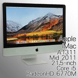限定1台再入荷!中古一体型パソコンApple(アップル)iMacA131121.5-inchMid201121.5型ワイドMacOSX10.13.3(HighSierra)Corei52.7GHzメモリ8GBHDD1TBRadeonHD6770MDVDマルチマジックマウス&ワイヤレスキーボード(US)付【送料無料(一部地域を除く)】