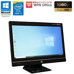 WPSOffice付Windows10中古パソコン中古パソコン一体型パソコン21.5インチフルHDHPProOne600G1AIOCorei54590S3.0GHzメモリ4GBHDD500GBDVDマルチドライブ初期設定済