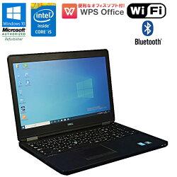 WPSOffice付【中古】ノートパソコンDELLLATITUDEE5550Windows10Corei55200U2.20GHzメモリ4GBHDD500GBドライブレスHDMIBluetoothUSB3.0初期設定済送料無料(一部地域を除く)