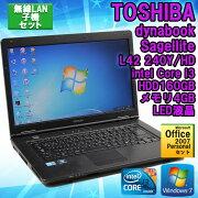��MicrosoftOfficePersonal2007���åȡ��ۡ�̵��LAN�ҵ����åȡ��ۡ���šۥΡ��ȥѥ��������(TOSHIBA)dynabookSatelliteL42240Y/HDWindows715.6�����Corei3M3702.40Hz����4GBHDD160GB��HDTFT���顼LED�վ��ۡ�����̵����