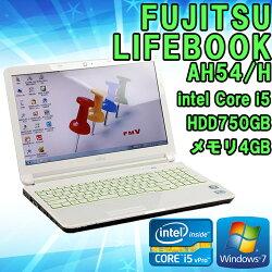 限定1台!【中古】ノートパソコンFUJITSU(富士通)LIFEBOOKAH54/HWindows715.6インチCorei53210M2.50GHzメモリ4GBHDD750GB■KingsoftOffice付!(WPSOffice)【初期設定済】【無線LAN内蔵】【HDMI】【BDドライブ】【送料無料(一部地域を除く)】