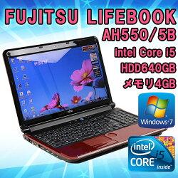 限定1台!【中古】ノートパソコンFUJITSU(富士通)LIFEBOOKAH550/5BWindows715.6インチ(1360×768)Corei5M5602.67GHzメモリ4GBHDD640GB■KingsoftOffice付!(WPSOffice)【送料無料(一部地域を除く)】【テンキー付】【HDMI】【BDドライブ】