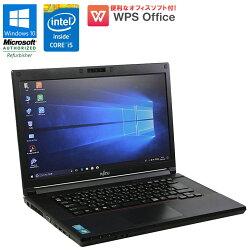 【中古】ノートパソコンFUJITSU(富士通)LIFEBOOK(ライフブック)A574/HWindows10Home15.6インチCorei54300M2.6GHzメモリ4GBHDD320GBDVD-ROMドライブHDMIWPSOffice付初期設定済送料無料(一部地域を除く)