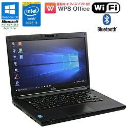 【中古】ノートパソコンFUJITSU(富士通)LIFEBOOK(ライフブック)A574/HWindows10Pro15.6インチCorei34000M2.4GHzメモリ4GBHDD320GBDVDマルチドライブHDMIWPSOffice付初期設定済送料無料(一部地域を除く)