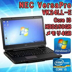 中古NECVersaProVK24LL-EWindows715.6インチ(1366×768)Corei32370M2.40GHzメモリ4GBHDD250GBKingsoftOffice付!(WPSOffice)HDMI端子DVDマルチドライブ初期設定済送料無料(一部地域を除く)テンキー付き