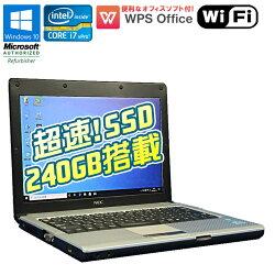 新品超速!SSDモデル【中古】ノートパソコンWPSOffice付NECVersaProVK17HB-DWindows1012.1インチCorei7vPro2637M1.70GHzメモリ4GBSSD240GBドライブレスWi-Fi初期設定済中古パソコン