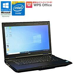 WPSOffice付【中古】ノートパソコンNECVersaProVK19EA-HWindows10Celeron1005M1.90GHzメモリ4GBHDD320GBDVD-ROMドライブ初期設定済送料無料(一部地域を除く)