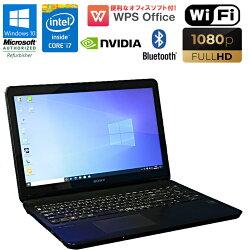 限定1台WPSOffice付中古パソコン中古ノートパソコンノートパソコン中古パソコンノートSONYVAIOSVF153A18NWindows10Corei74500U1.8GHzメモリ4GBHDD500GBDVDマルチドライブBluetoothWEBカメラNVIDIAGeForceGT740MフルHD初期設定済