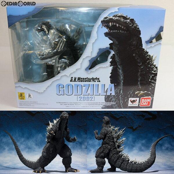 中古  FIG S.H.MonsterArts(モンスターアーツ)ゴジラ(2002)ゴジラ×メカゴジラ完成品可動フィギュアバン