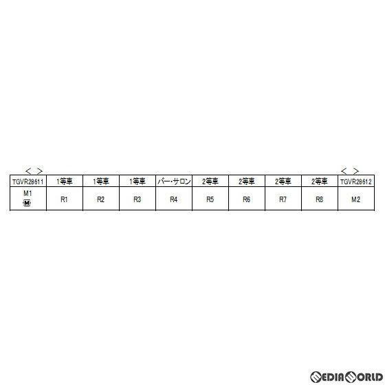 鉄道模型, 車両パーツ RWM10-1529 TGV Reseau Duplex() 10() N KATO()(20200530)