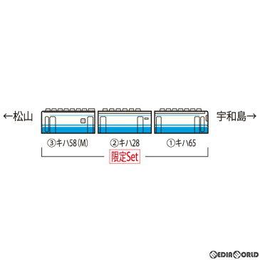 【予約安心発送】[RWM]97931 限定品 JR キハ58系急行ディーゼルカー(うわじま・JR四国色)セットB(3両)(動力付き) Nゲージ 鉄道模型 TOMIX(トミックス)(2020年11月)