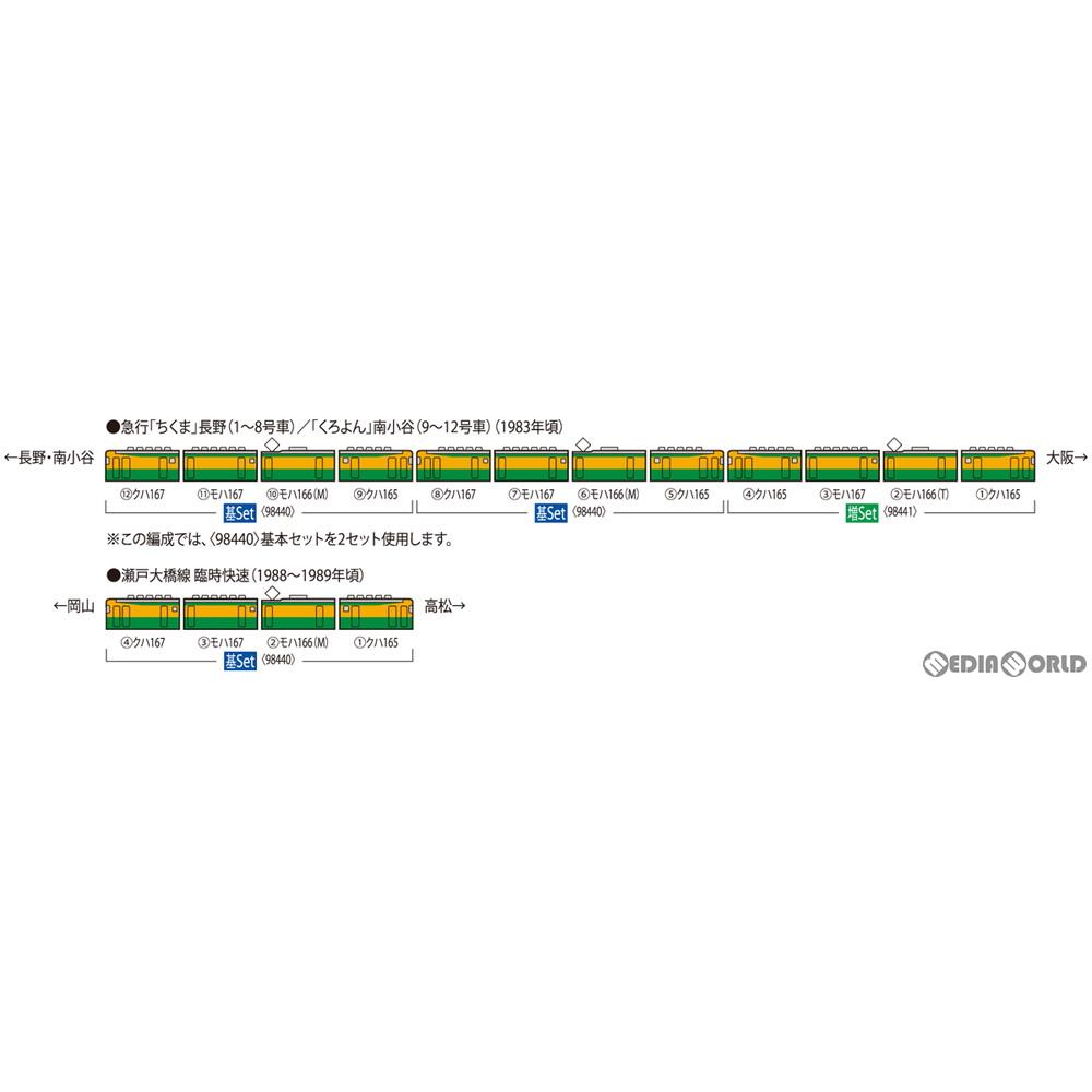 【予約安心発送】[RWM]98440 国鉄 165・167系電車(冷改車・湘南色・宮原電車区) 基本セット(4両)(動力付き) Nゲージ 鉄道模型 TOMIX(トミックス)(20210918)