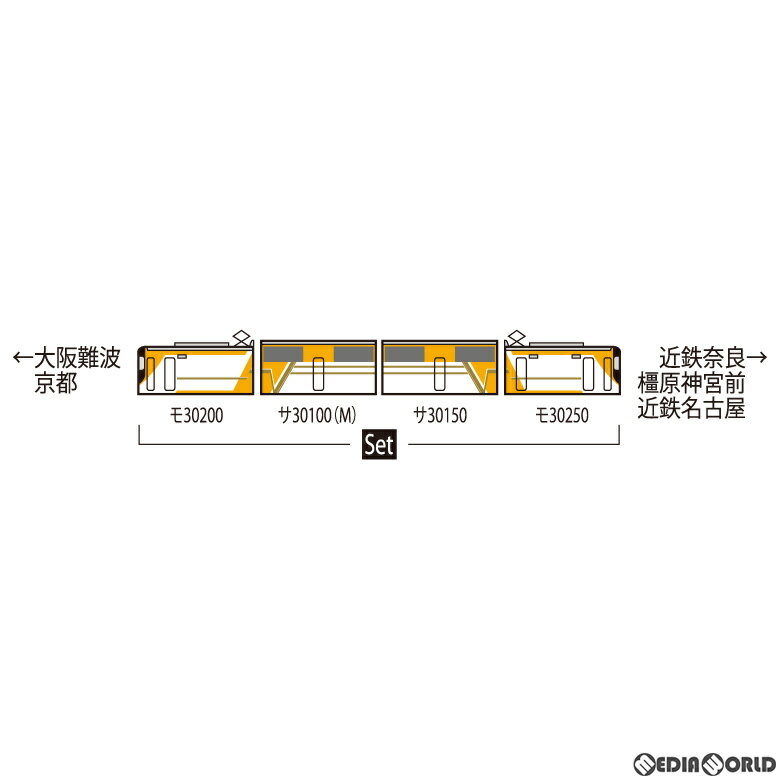 【予約安心発送】[RWM]98463 近畿日本鉄道 30000系ビスタEX(新塗装・喫煙室付)セット(4両)(動力付き) Nゲージ 鉄道模型 TOMIX(トミックス)(2022年1月)