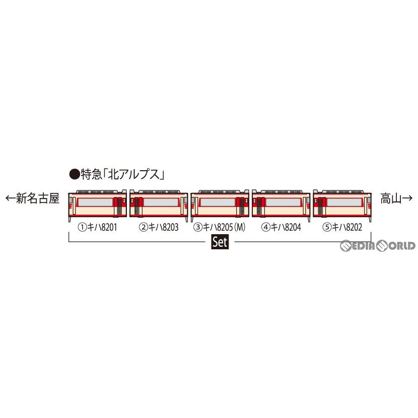 【予約安心発送】[RWM]98446 名鉄キハ8200系(北アルプス)セット(5両)(動力付き) Nゲージ 鉄道模型 TOMIX(トミックス)(2022年1月)