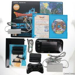 【中古】【訳あり】[本体][WiiU]ドラゴンクエストX 目覚めし五つの種族 オンライン Wii Uプレミアムセット(kuro/クロ/黒)(WUP-S-KAFJ)(20130330)