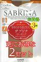 SABRINA サブリナ パンスト ストッキング3足組×2 GUNZE グンゼ5色 M-L-LL 日本製 伝線しにくい3枚セット×2自然 素肌感 素足 キレイ きれいに 綺麗に(同色・同サイズ=2セット(6枚)