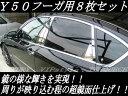 フーガ Y50系 前期 後期 対応★日本製★超鏡面ステンレスメッキピラーパネル★8ピースセット【メガLED】【あす楽対応】【05P18Jun16】