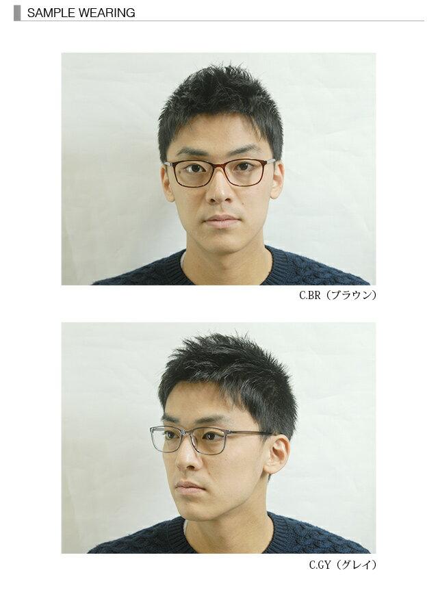 POLY+ NEW MODEL P3211メガネ 度付き 眼鏡 乱視対応 ウェリントン セルフレーム