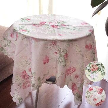 薔薇柄トップクロス 撥水加工100×100cm 全2色