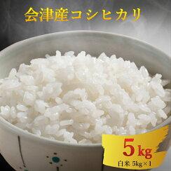 【送料無料】新米コシヒカリ5kg白米/会津只見産米令和元年産2019年産産地直送精米米どころ甘みうま味美味しいお米おすすめ美白米無洗米並5キロ