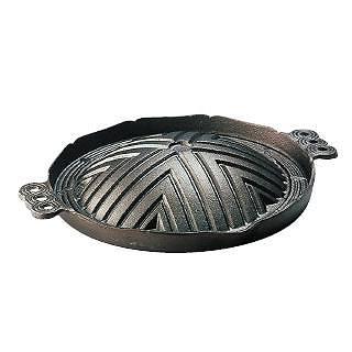 トキワ 鉄ジンギス鍋[穴無] 29cm 【 ジンギスカン 鉄製 鉄鍋 料理演出用品 卓上鍋類 焼肉プレート 】