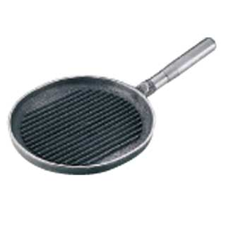 『 フライパン グリルパン 』【 グリルパン 】 鉄柄小判ステーキパン