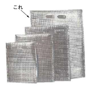 【まとめ買い10個セット品】『 コンテナ 保温コンテナ 』保冷・保温袋 アルバック平袋[持ち手付][50枚入] LLサイズ