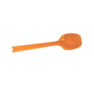 業務用かき氷機用 ミニカラースプーン・10cm オレンジ 100本