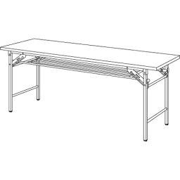 【まとめ買い10個セット品】 折りたたみテーブル YKT−1860(TE) チーク